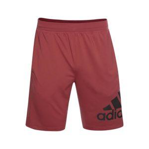 ADIDAS PERFORMANCE Sportovní kalhoty  bordó / černá
