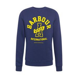 Barbour International Mikina  námořnická modř / žlutá