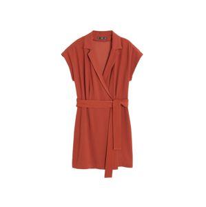 MANGO Šaty 'garazini'  oranžově červená