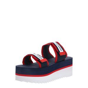 Tommy Jeans Pantofle 'Colette 6D'  červená / námořnická modř / bílá