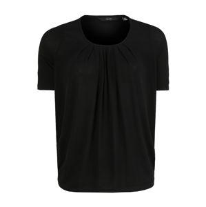 Vero Moda Curve Tričko 'VMHONEY SS PLEAT TEE GA VO CURVE'  černá