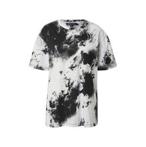 Motel Oversized tričko  černá / bílá