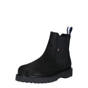 Tommy Jeans Kozačky  černá