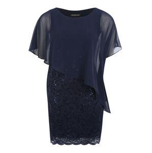 SWING Curve Společenské šaty  marine modrá