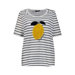 Ulla Popken Tričko  bílá / modrá / žlutá