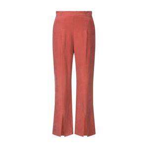 Pop Copenhagen Kalhoty se sklady v pase 'Flared Split-leg Trousers'  oranžová
