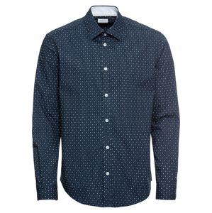 Esprit Collection Košile '60s AOP LS'  námořnická modř / bílá