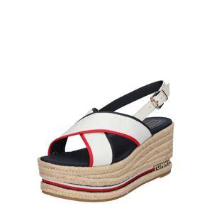 TOMMY HILFIGER Páskové sandály  námořnická modř / červená / bílá