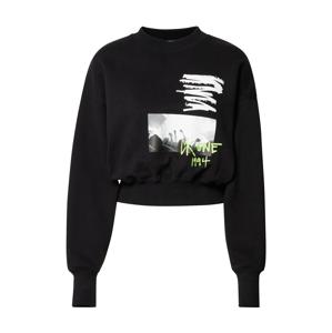 Calvin Klein Jeans Mikina  černá / bílá / svítivě zelená
