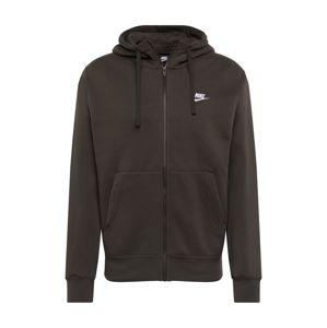 Nike Sportswear Mikina s kapucí 'M NSW CLUB HOODIE FZ BB'  tmavě zelená