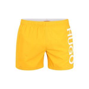 HUGO Plavecké šortky 'Abas'  oranžová / bílá