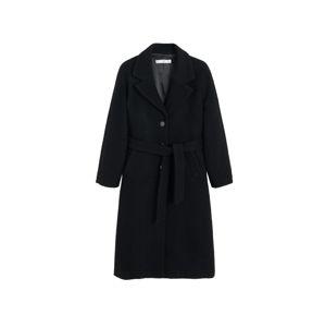 MANGO Přechodný kabát 'Robe'  černá