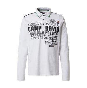CAMP DAVID Tričko  černá / bílá