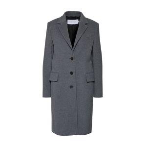 Calvin Klein Přechodný kabát '3 BUTTON LUX'  tmavě šedá
