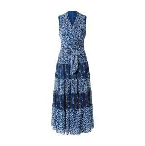 Lauren Ralph Lauren Šaty 'ADNAN'  modrá / enciánová modrá / bílá