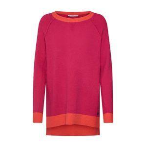 EDC BY ESPRIT Maxi svetr  fuchsiová / oranžově červená