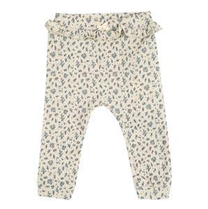 NAME IT Kalhoty  přírodní bílá / modrá