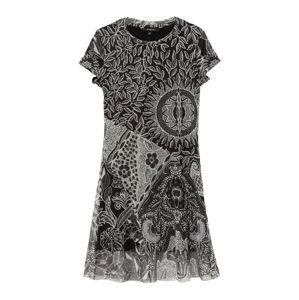 Desigual Letní šaty 'PARIS'  černá / šedá