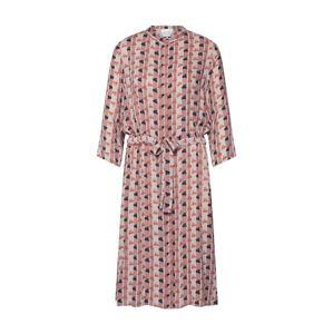 SECOND FEMALE Košilové šaty 'Desirely'  růžová / černá / bílá