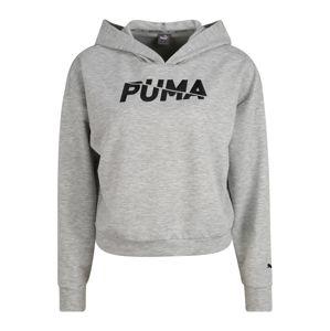 PUMA Sportovní mikina  šedý melír / černá