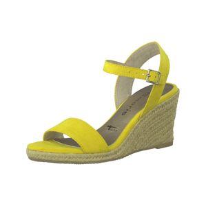 TAMARIS Páskové sandály  žlutá