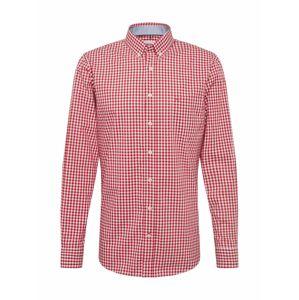 BRAX Košile 'dries'  červená / bílá