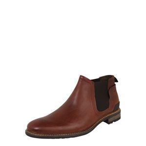 BULLBOXER Chelsea boty  kaštanově hnědá / černá