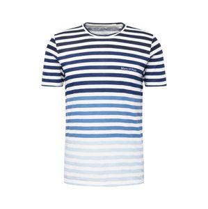 Marc O'Polo Tričko  tmavě modrá / bílá / modrý melír