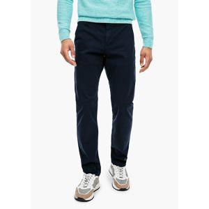 Q/S Designed By Chino kalhoty  modrá
