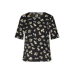 PIECES Tričko 'Stine'  žlutá / černá