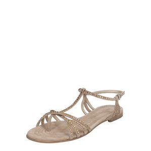 Kennel & Schmenger Páskové sandály 'Elle'  béžová / hnědá
