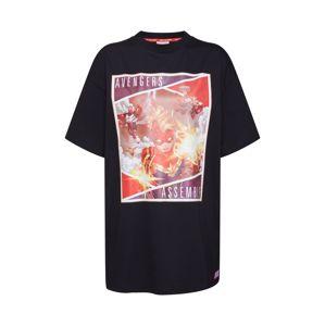 ABOUT YOU x MARVEL Oversized tričko 'Hanna'  ohnivá červená / černá