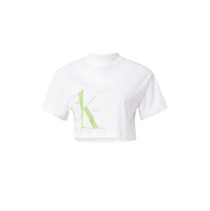 Calvin Klein Jeans Tričko  bílá / rákos
