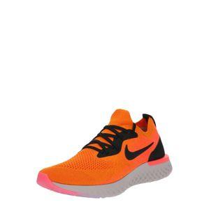 NIKE Běžecká obuv 'EPIC REACT FLYKNIT'  oranžová / černá