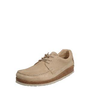 BIRKENSTOCK Šněrovací boty 'Sacramento Suede'  písková