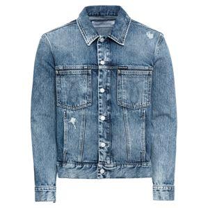 Calvin Klein Jeans Přechodná bunda 'MODERN CLASSIC OMEGA TRUCKER'  modrá džínovina