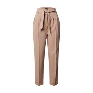 Miss Selfridge Kalhoty se sklady v pase  světle hnědá / béžová