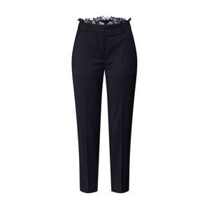 The Kooples Kalhoty se sklady v pase 'FPAN19001K'  černá
