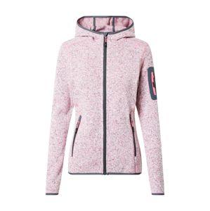CMP Outdoorová bunda  růžový melír / šedá