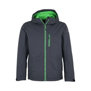 ICEPEAK Outdoorová bunda 'KODY'  čedičová šedá / svítivě zelená