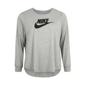 Nike Sportswear Tričko  šedý melír / černá