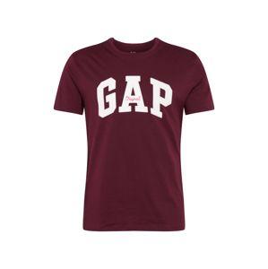 GAP Tričko  vínově červená / bílá