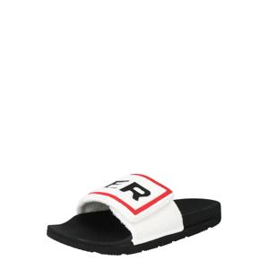HUNTER Pantofle 'TERRY'  bílá / černá / červená