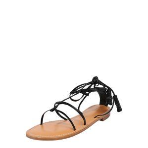 Filippa K Páskové sandály 'Bella Flat Sandal'  černá