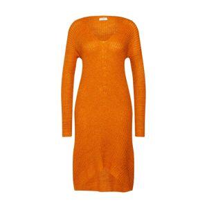 JACQUELINE De YONG Úpletové šaty 'TAMMY'  oranžová