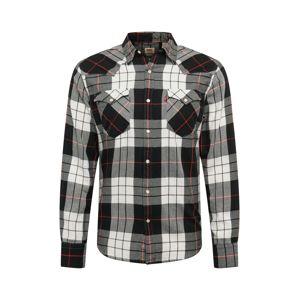 LEVI'S Košile 'Barstow'  bílá / černá / šedá / pastelově červená