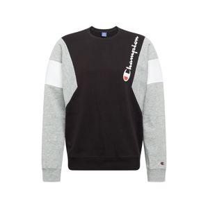 Champion Authentic Athletic Apparel Mikina  šedá / černá / bílá