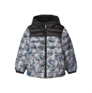 NAME IT Zimní bunda 'FORTNITE'  nebeská modř / šedá / antracitová / světle šedá