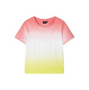 NAME IT Tričko 'Demia'  zlatě žlutá / ohnivá červená