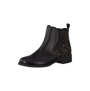 MARCO TOZZI Chelsea boty  černá / béžová